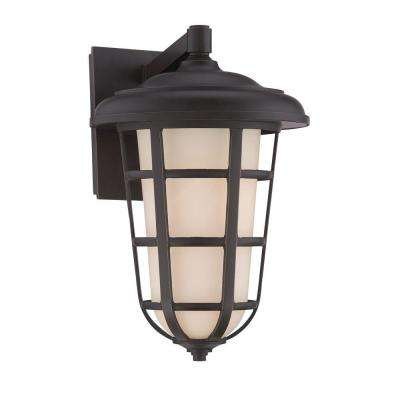 Triton 1-Light Aged Bronze Patina Outdoor Incandescent Wall Lantern