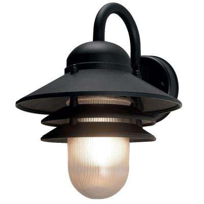 Marina Black Outdoor Wall-Mount Lamp