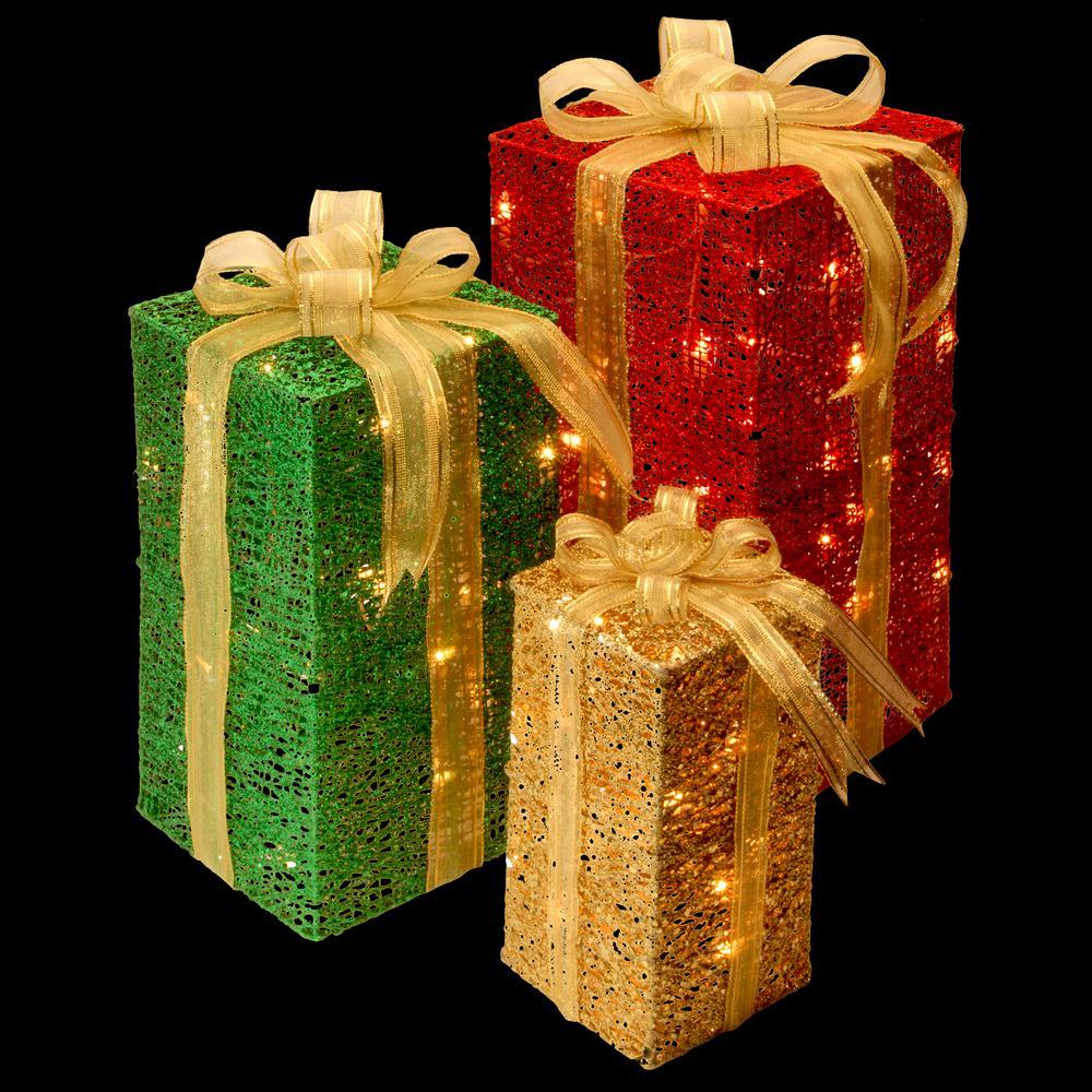 national tree company pre lit sisal gift box assortment df 070001u