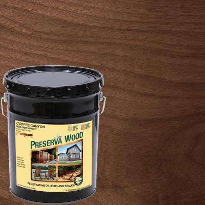 5 gal. Semi-Transparent Oil-Based Coffee Canyon Exterior Wood Stain