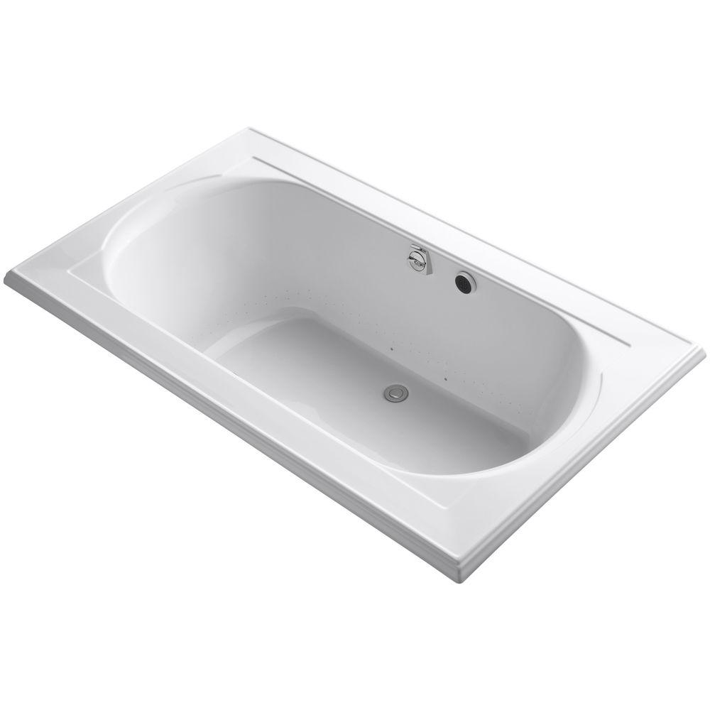 Memoirs 6 ft. Acrylic Rectangular Drop-In Whirlpool Bathtub in White