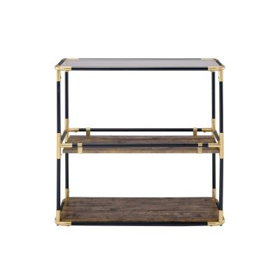 Amelia Black Solid Wood Leg Console Table