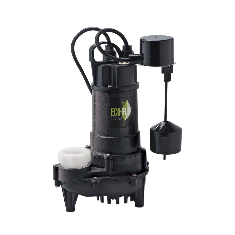 ECO FLO 3/4 HP Cast Iron Submersible Sump Pump with Vertical Switch