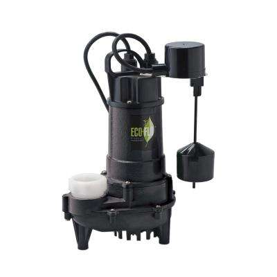 3/4 HP Cast Iron Submersible Sump Pump with Vertical Switch