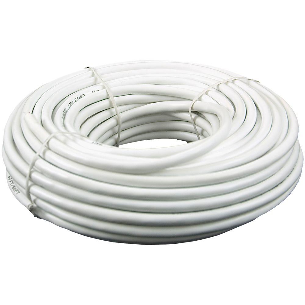 100 ft. CAT3 6-Conductor Indoor Phone Installation Wire - White