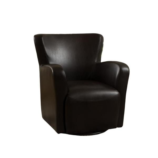 Vada Brown Leather Swivel Chair