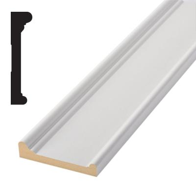 931M Timeless Craftsman 1-1/4 in. x 5-5/16 in. x 84 in. Primed MDF Header Moulding