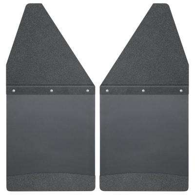 Kick Back 12 in. W Rear Mud Flaps with Black Top and Weight