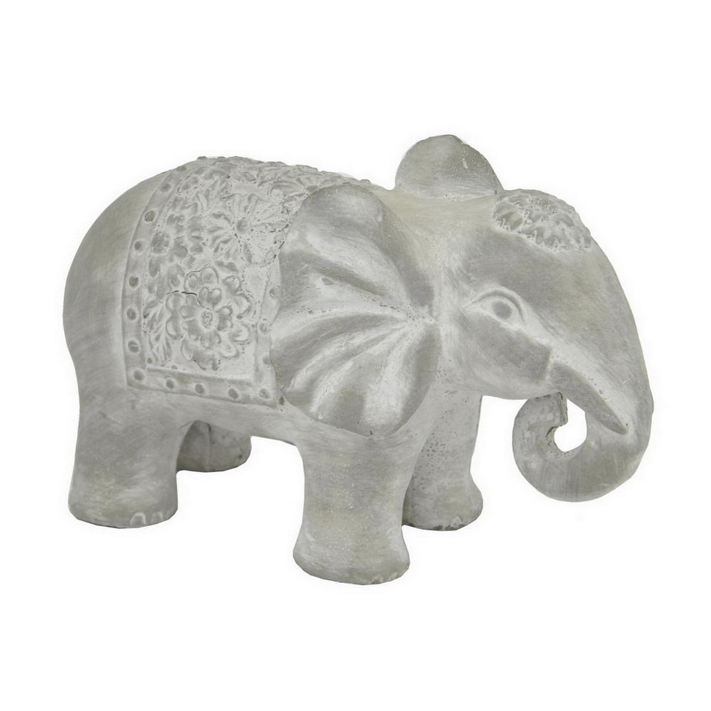 8.75 in. x 4.5 in. Elephant in Gray