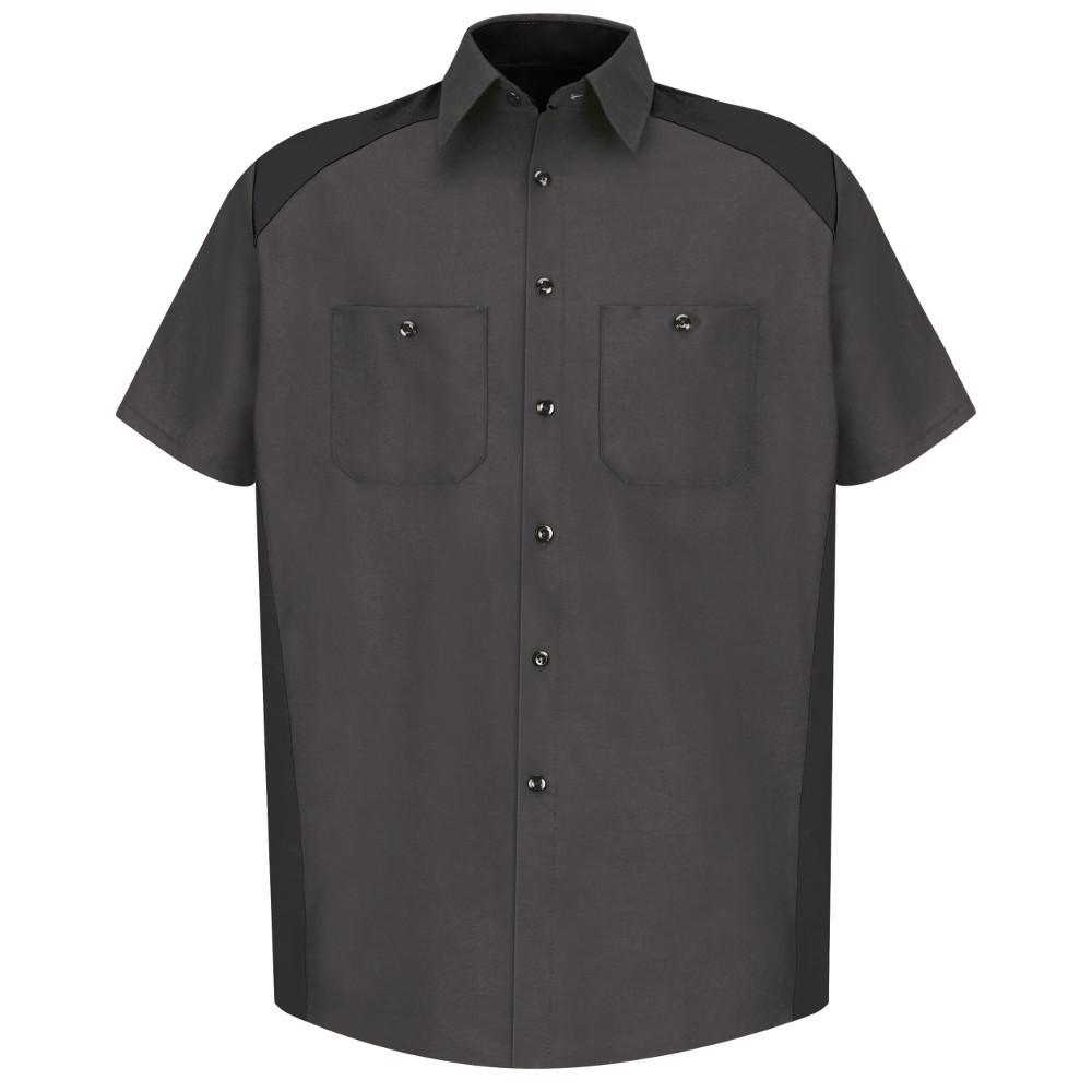 Men's Size 3XL (Tall) Charcoal/Black Motorsports Shirt