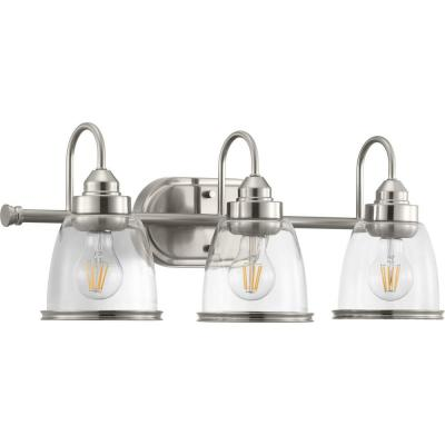 Saluda Collection 3-Light Brushed Nickel Bath Light