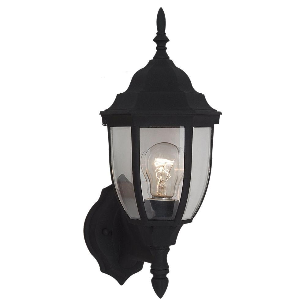 Bakersville 1-Light Small Black Outdoor Wall Fixture