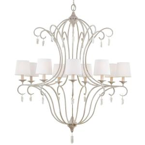 Feiss Caprice 9-Light Chalk Washed Uplight Chandelier by Feiss