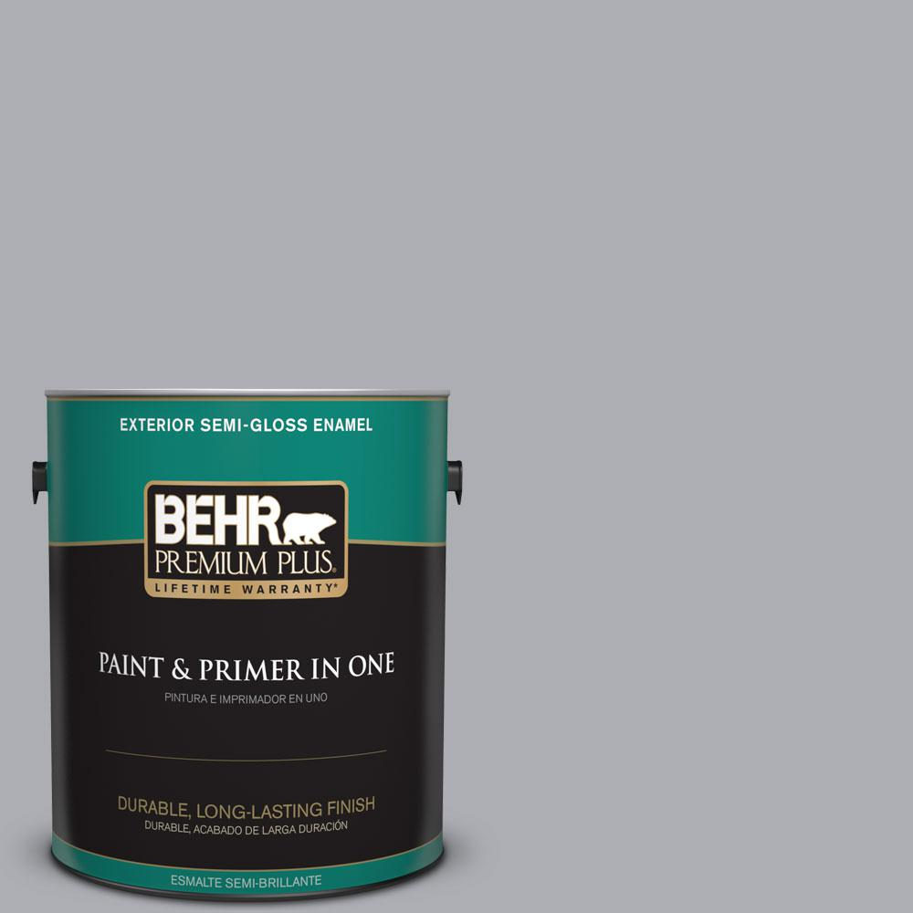 1-gal. #760E-3 Gray Timber Wolf Semi-Gloss Enamel Exterior Paint