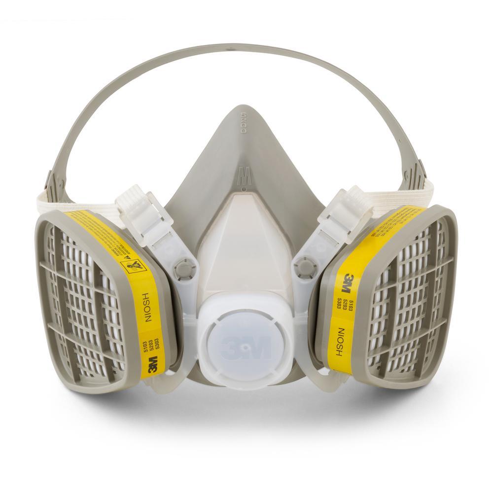 5000 Series Medium Half Face piece, Organic Vapor/Acid Gas, Disposable Respirator Assembly (Case of 12)