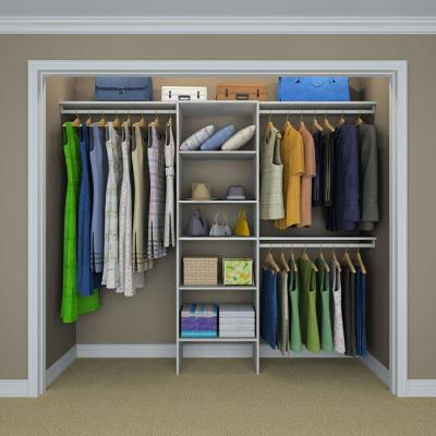 Selectives 83 in. H x 120 in. W x 14.5 in. D Basic Closet System in White