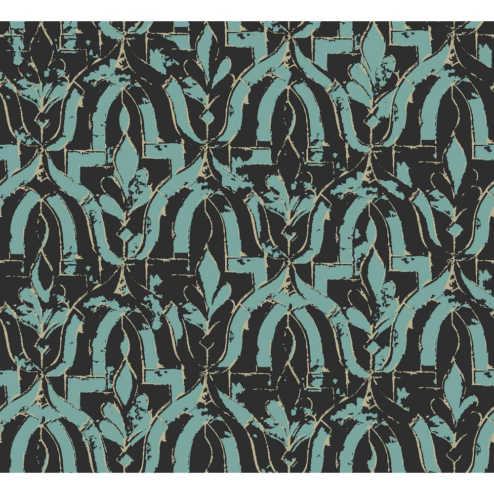 Belli Turquoise Geometric Wallpaper Sample