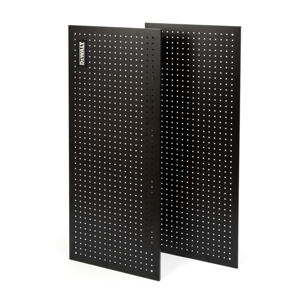 DEWALT 18 in. H x 44 in. W Black Steel Pegboard (2-Pack)