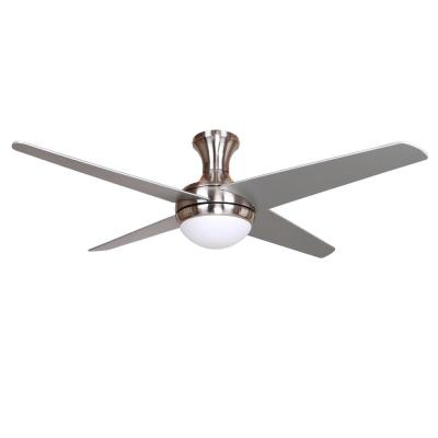 52 in. 4-Blade Silver/Black Ceiling Fan with Light Kit
