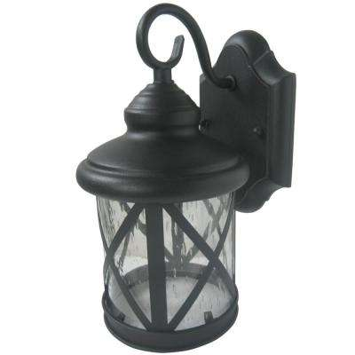 Ellie 1-Light Sandy Black Outdoor Wall Mount Sconce Light
