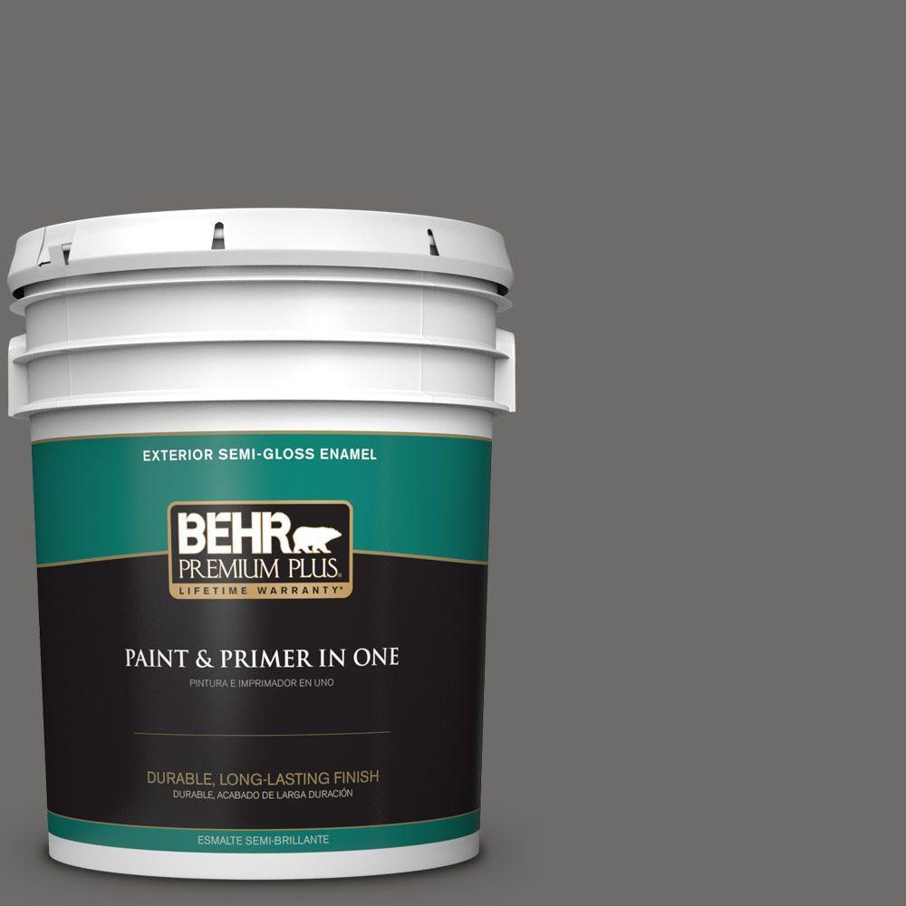 5-gal. #780F-6 Dark Granite Semi-Gloss Enamel Exterior Paint