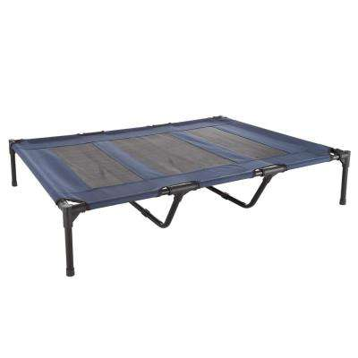 Extra Large Navy Blue Elevated Pet Bed
