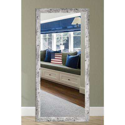 65.5 in. x 30.5 in. Weathered White Farmhouse Tall Mirror