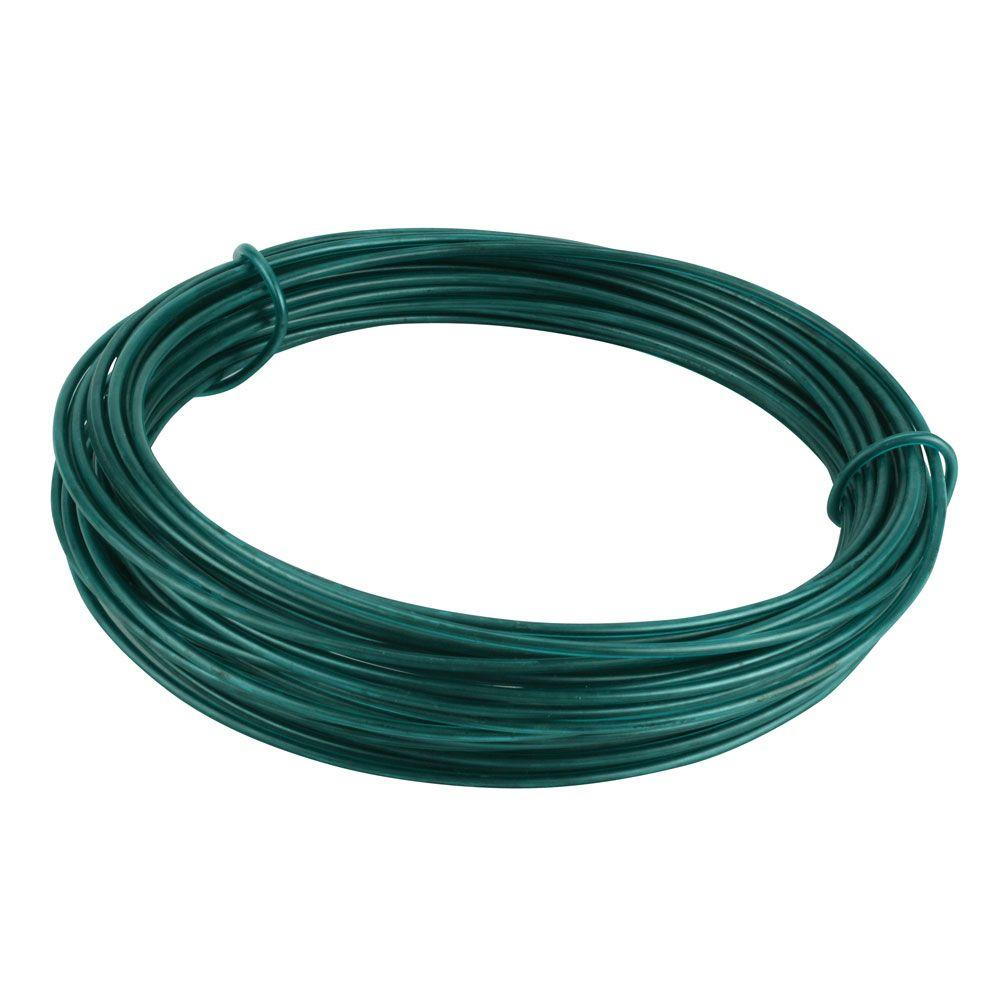 Crown Bolt 1/16 in. x 100 ft. Green Plastic-Coated Multi-Purpose ...