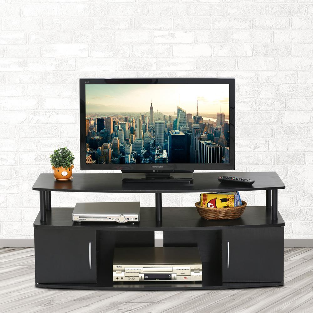 Genial Furinno JAYA Blackwood Storage Entertainment Center