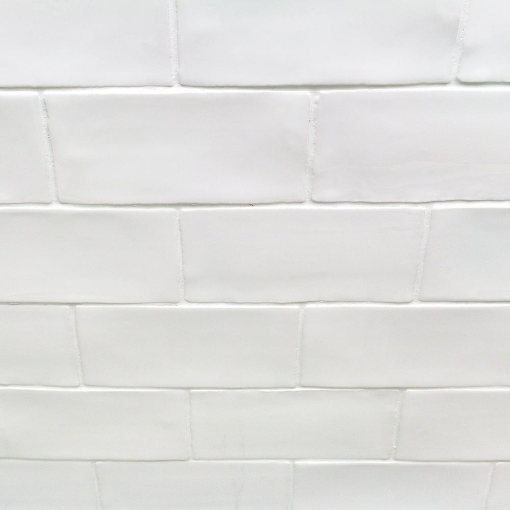 Ivy Hill Tile Catalina White 3 in. x 6 in. x 8 mm Polished Ceramic Subway Wall Tile (5.38 sq. ft./case)