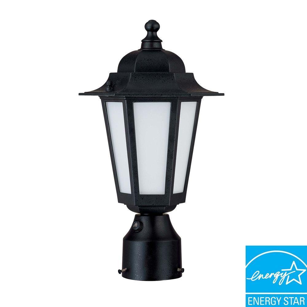 1-Light Outdoor Burlwood Fluorescent Wall Light