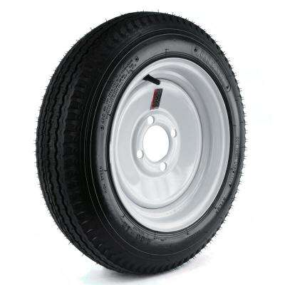 480-12 Load Range B 4-Hole Trailer Tire and Wheel Assembly