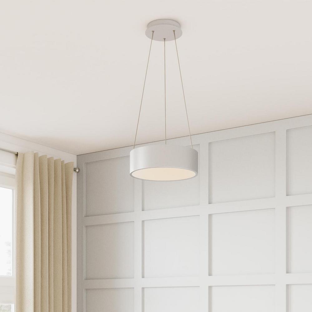 Hollandale 75-Watt Equivalence Integrated LED White Pendant