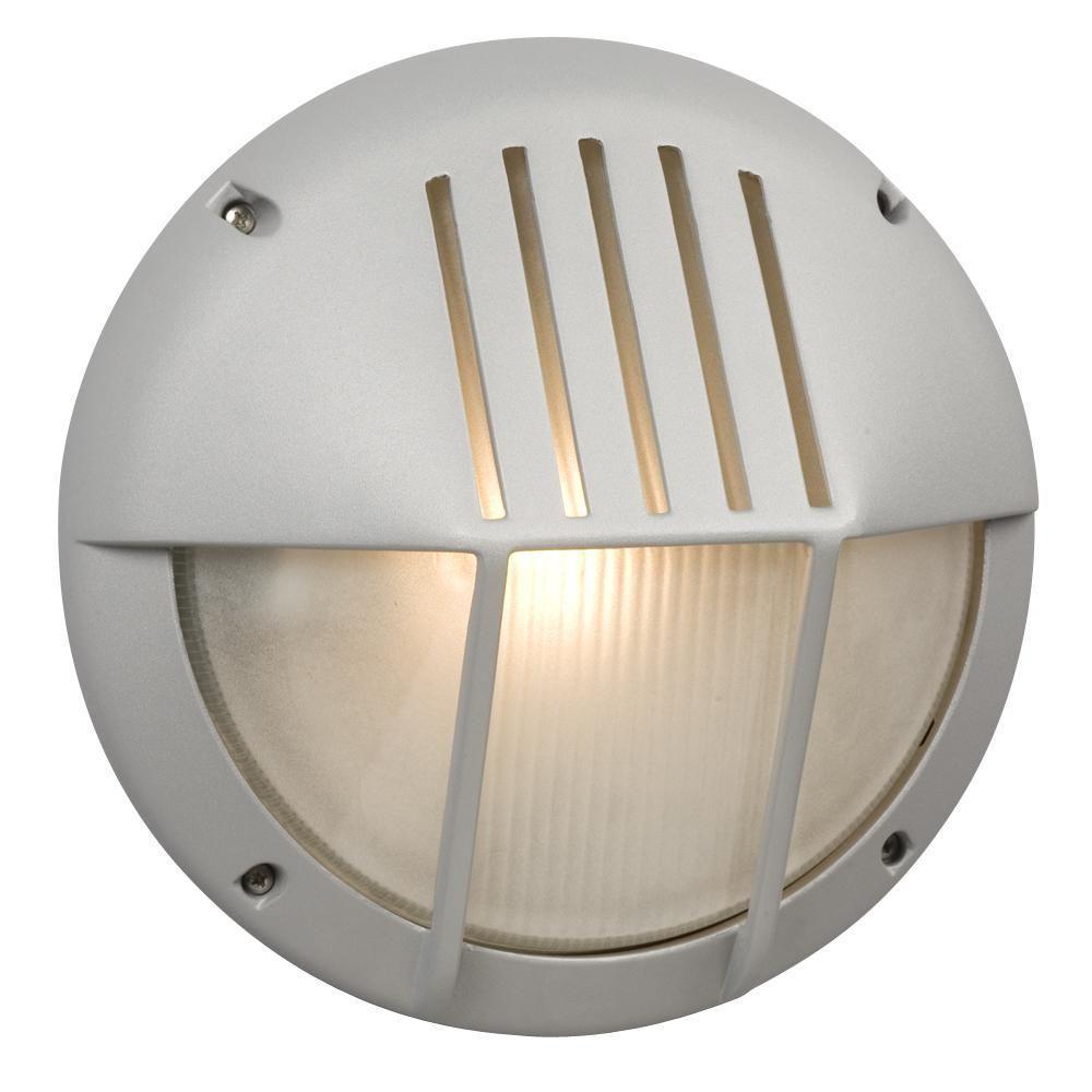 Filament Design Negron 1-Light Outdoor Matte Silver Wall Light
