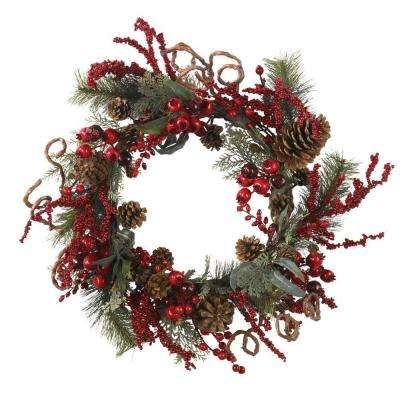 24 in. Assorted Berry Wreath
