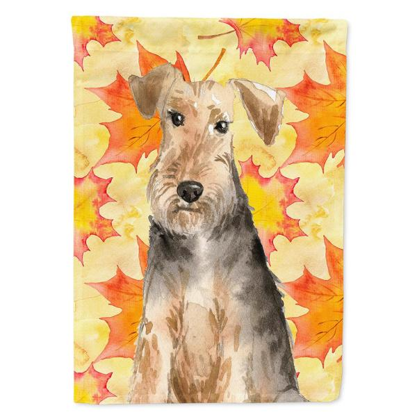 Caroline S Treasures 28 In X 40 In Polyester Fall Leaves Welsh Terrier Flag Canvas House Size 2 Sided Heavyweight Ck1821chf The Home Depot