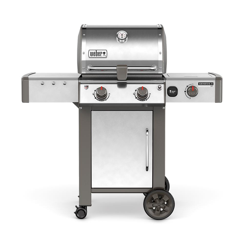 Weber Genesis II LX S-240 2-Burner Natural Gas Grill in Stainless Steel with Built-In Thermometer and Grill Light
