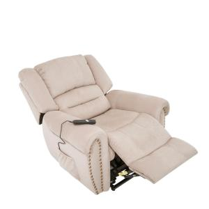 Excellent Merax Beige Electric Power Lift Recliner Chair With Remote Gamerscity Chair Design For Home Gamerscityorg