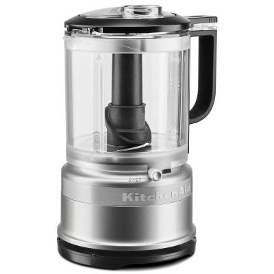 5-Cup 2-Speed Contour Silver Food Processor with Whisk Accessory