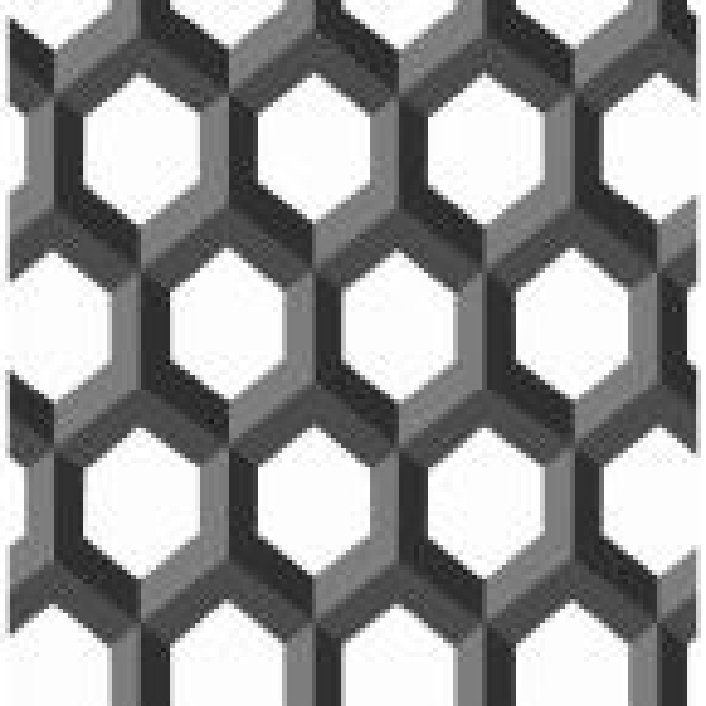 Giana, Hex Black Geometric Wallpaper