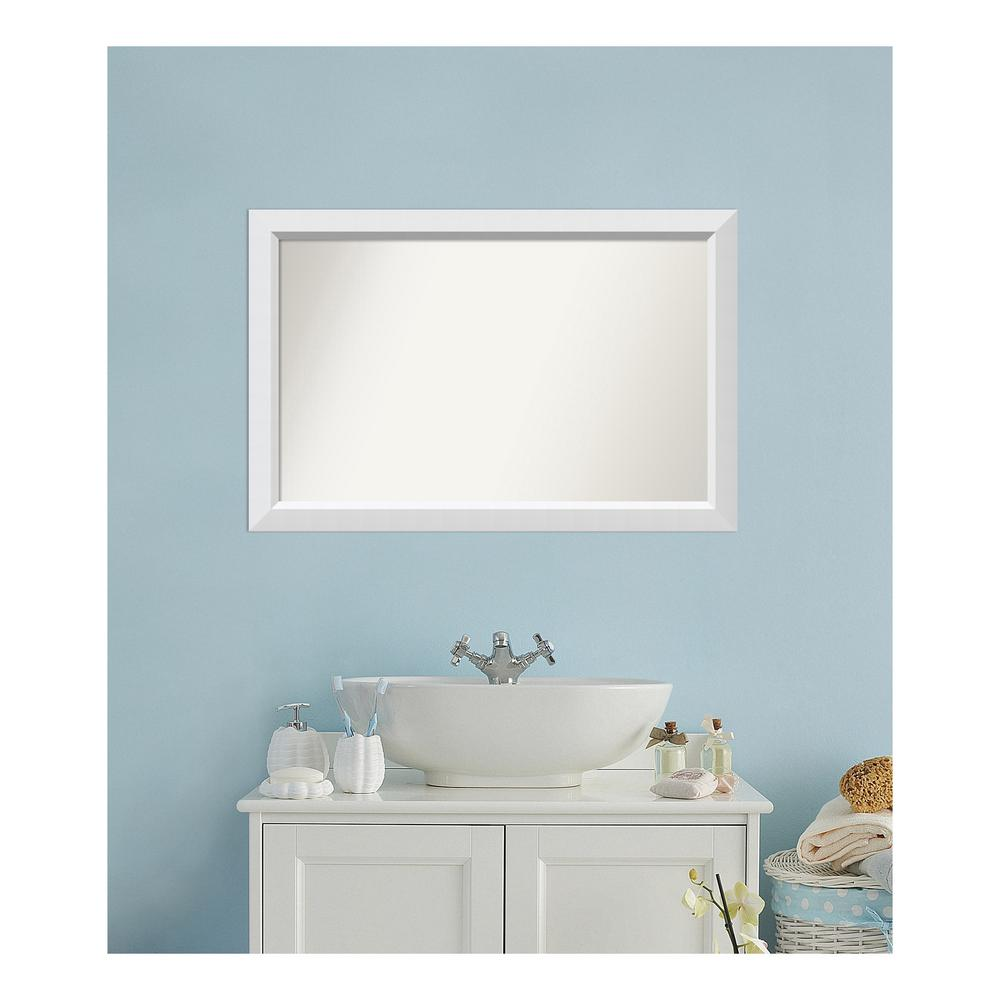 Amanti Art Choose Your Custom Size 25 in. x 38 in. Blanco White Wood ...