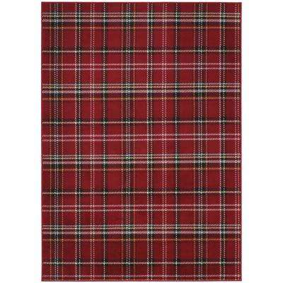 Grafix Red 7 ft. 10 in. x 9 ft. 10 in. Area Rug