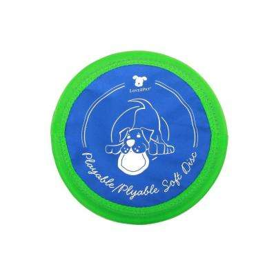 10 in. Medium Size Playable/Plyable Soft Bite Disc for Dogs