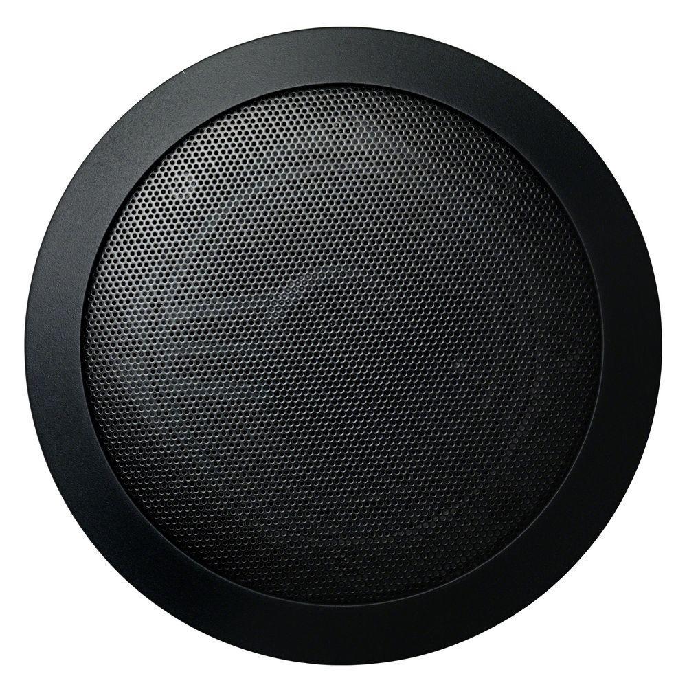 Music Therapy 60-Watt 2-Way Indoor/Outdoor Round Speaker System, Black (2-Pack)