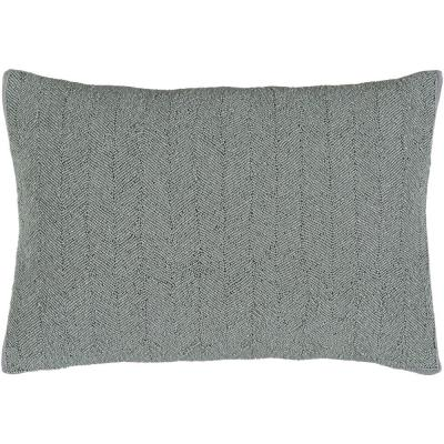 Arundel Gray Solid Polyester 20 in. x 20 in. Throw Pillow