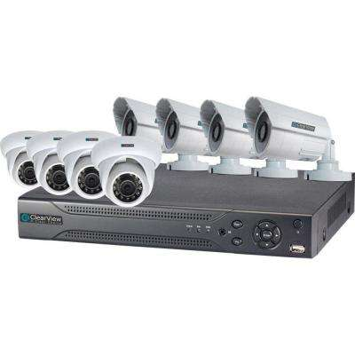 16-Channel Hawk View 4 Dome and 4 Bullet Camera Digital Video Recorder Kit