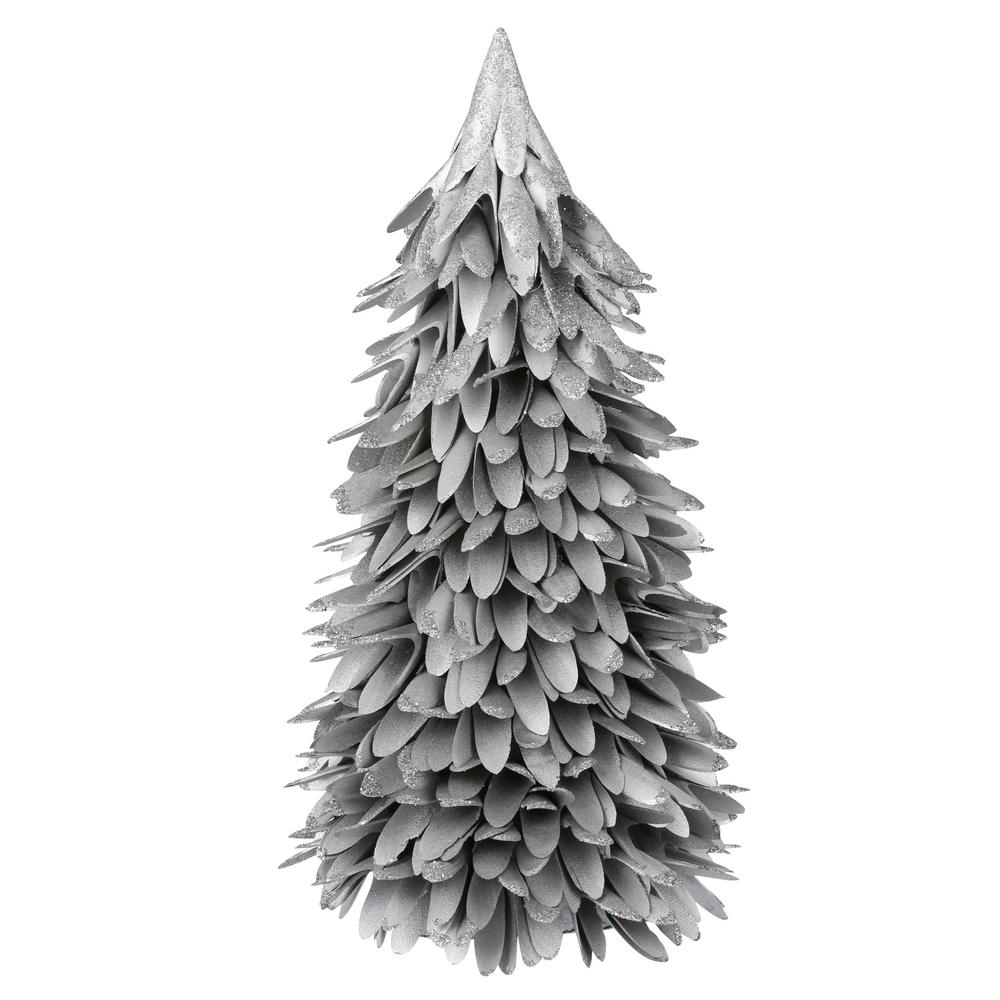 Martha Stewart Living 16 in. silver shaved wood tree with glitter