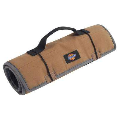 23-Compartments Small Parts Organizer Large Tool / Wrench Roll in Tan