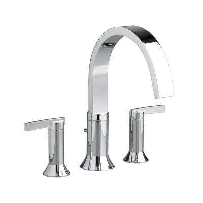 Berwick 2-Handle Deck-Mount Roman Tub Faucet for Flash Rough-in Valves in Polished Chrome