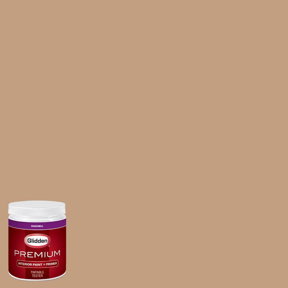 Glidden Premium 8 Oz Hdgo50 Onionskin Tan Eggshell Interior Paint With Primer Tester Hdgo50p